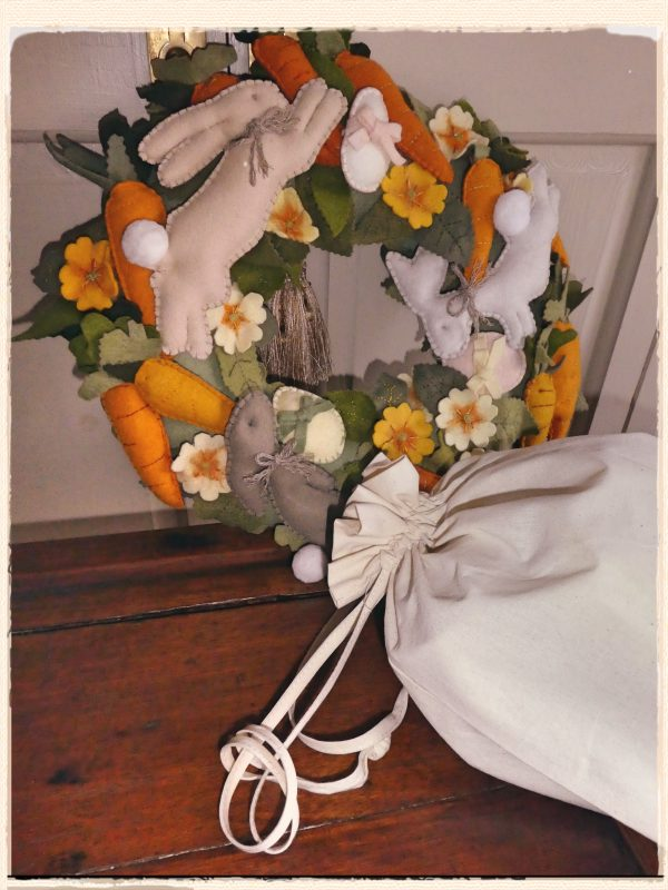 Spring Wreath with Bag