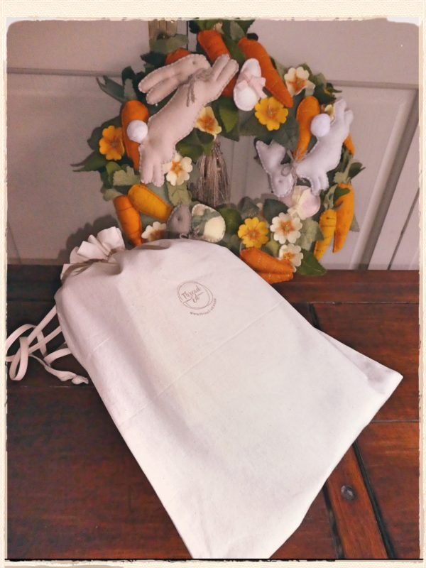 Wreath and Logo bag
